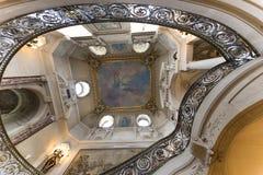Château de Chantilly, wnętrza i szczegóły, Oise, Francja obrazy royalty free