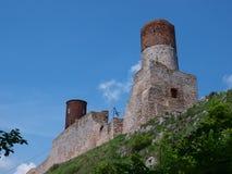 Château de Checiny, Pologne Images libres de droits