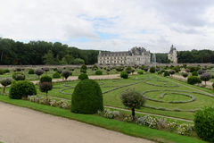 The Château de Chenonceau. The Château de Chenonceau, also spelled Chenonceaux, is a French castle spanning the River Cher, near the small village of Stock Image