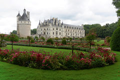 The Château de Chenonceau. Also spelled Chenonceaux, is a French castle spanning the River Cher, near the small village of Chenonceaux in the Indre-et-Loire stock image