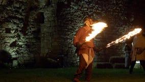 Château de combat d'épée du feu clips vidéos