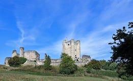 Château de Conisbrough le premier jour de l'automne photographie stock