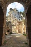 Château de conte de fées de Hilarion en Chypre du nord photos stock