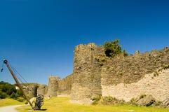 Château de Conway, les vieux murs Images libres de droits