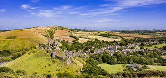 Château de Corfe dans Dorset Image stock