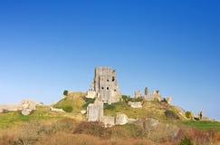 Château de Corfe, dans Swanage, Dorset, Angleterre méridionale Image libre de droits