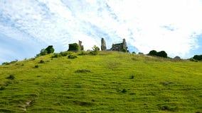 Château de Corfe dorset LE R-U Image libre de droits