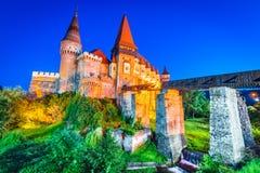 Château de Corvin dans Hunedoara, la Transylvanie, Roumanie images libres de droits