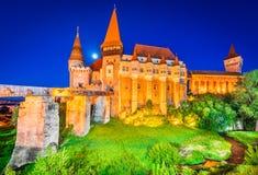 Château de Corvin dans Hunedoara, la Transylvanie, Roumanie images stock