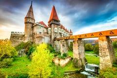 Château de Corvin - Hunedoara, la Transylvanie, Roumanie photos stock