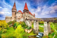 Château de Corvin - Hunedoara, la Transylvanie, Roumanie image stock