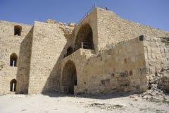 Château de croisade dans le sud de la Jordanie Photos libres de droits