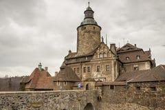 Château de Czoch Lesna - en Pologne. photos stock