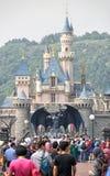 Château de Disneyland, Hong Kong Image stock