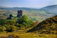 Château de Dolwyddelan dans Snowdonia, Pays de Galles, R-U Image stock
