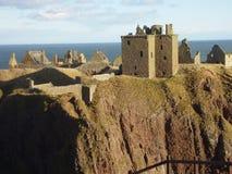 Château de Donnottar de paysage de l'Ecosse Photographie stock libre de droits
