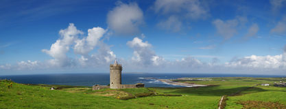 Château de Doonagore panoramique Image stock