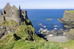 Château de Dunluce, Irlande du Nord images libres de droits