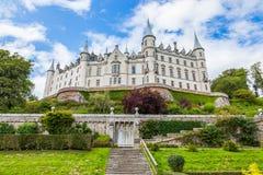Château de Dunrobin, montagnes écossaises Photo stock