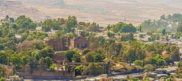 Château de Fasilides dans Gondar en Ethiopie Photographie stock libre de droits