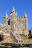 Château de Feira avec la soute de casemate émergeant des murs Photographie stock