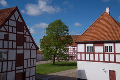Château de fente d'Aalborghus, Aalborg, Danemark Images libres de droits