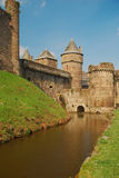 Château de Fougères, France Photo stock
