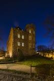 Château de Frankenberg la nuit, Aix-la-Chapelle photo libre de droits