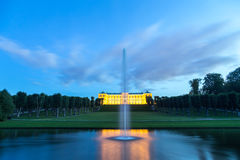 Château de Frederiksberg à Copenhague par nuit Images libres de droits