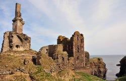 Château de Girnigoe et de Sinclair images stock