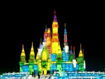 Château de glace à Harbin images libres de droits