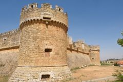 Château de Grajal de Campos, province de Léon, de la Castille et de maigre, PS photo stock