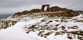 Château de Grosnez au Jersey Images libres de droits