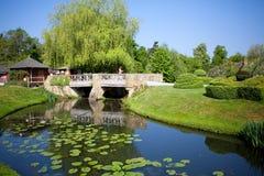Château de Hever et jardins, R-U Photographie stock libre de droits