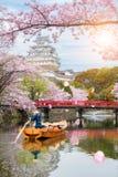 Château de Himeji avec la belle saison de fleurs de cerisier au printemps à Images libres de droits