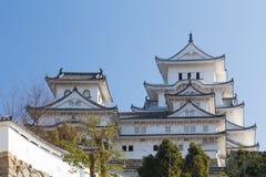 Château de Himeji Kansai Japon avec le fond clair de ciel bleu Photo libre de droits