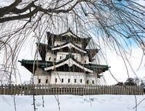 Château de Hirosaki pendant l'hiver, Aomori, Japon photographie stock libre de droits