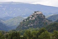 Château de Hochosterwitz en montagnes autrichiennes photographie stock
