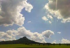 Château de Hohenzollern à la lumière du soleil photo libre de droits