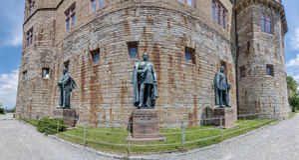 Château de Hohenzollern dans Baden-Wurttemberg, Allemagne photo libre de droits
