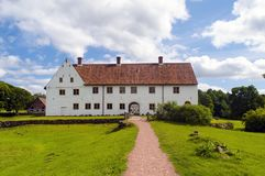 Château de Hovdala dans le skane du nord Image libre de droits
