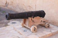 Château de Jabreen dans le canon de l'Oman Photographie stock libre de droits
