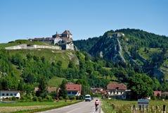 Château DE Joux en Fort Mahler Royalty-vrije Stock Afbeeldingen