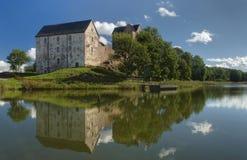 Château de Kastelholm sur des îles d'Aland Image libre de droits