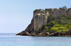 Château de Koroni chez Péloponnèse, Grèce photographie stock libre de droits