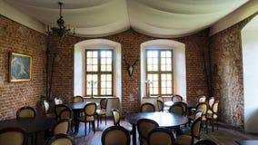 Château de Korzkiew construit pendant la moitié du 14ème siècle Photo stock
