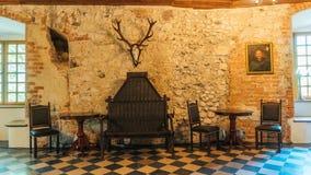 Château de Korzkiew construit pendant la moitié du 14ème siècle photos stock