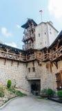 Château de Korzkiew construit pendant la moitié du 14ème siècle images libres de droits