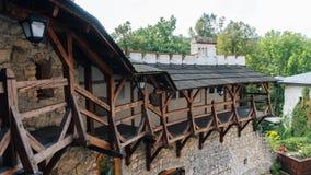 Château de Korzkiew construit pendant la moitié du 14ème siècle images stock