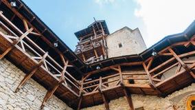 Château de Korzkiew construit pendant la moitié du 14ème siècle photos libres de droits